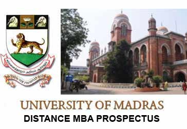 madras university distance education mba prospectus