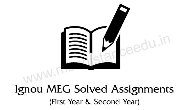 Ignou MEG Solved Assignments