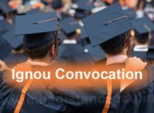 Ignou Convocation application form