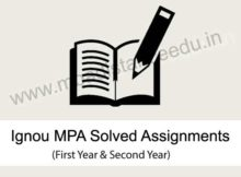 Ignou MA Public Administration Solved Assignments (MPA)