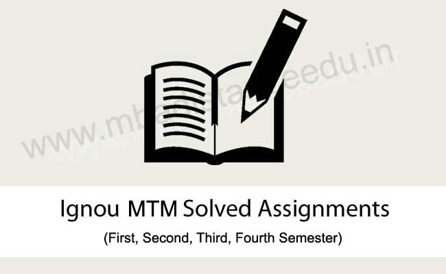 Ignou MTM Solved Assignments